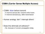 csma carrier sense multiple access