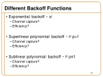 different backoff functions