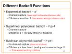 different backoff functions1
