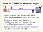 limits on csma cd network length