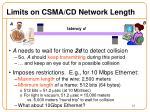 limits on csma cd network length1