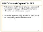 mac channel capture in beb