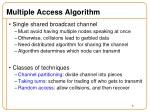 multiple access algorithm