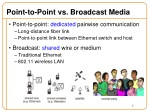 point to point vs broadcast media