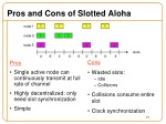 pros and cons of slotted aloha