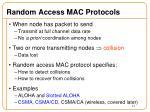 random access mac protocols1