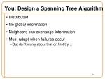 you design a spanning tree algorithm