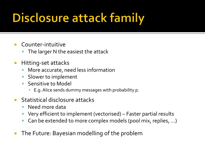 Disclosure attack family