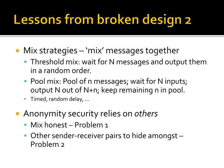Lessons from broken design 2