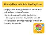 use myplate to build a healthy plate