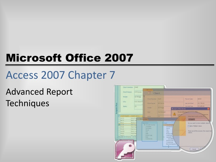 Access 2007 chapter 7