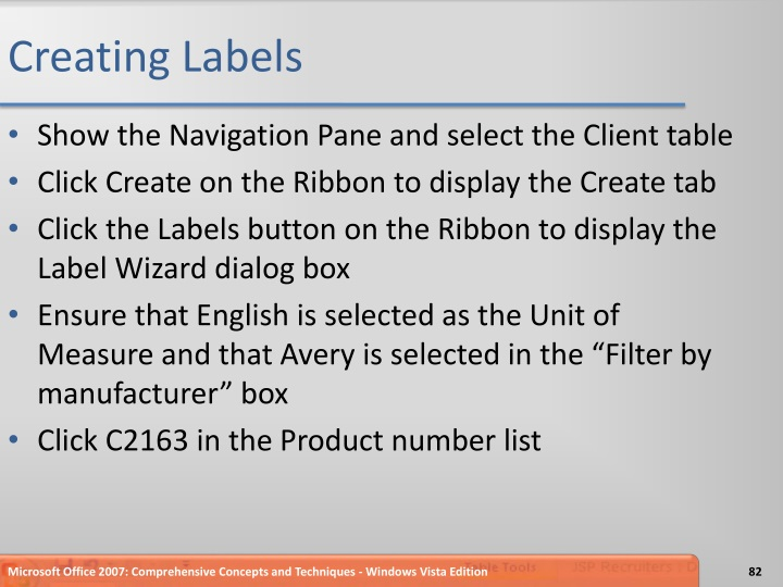 Creating Labels