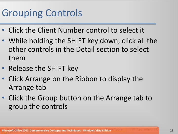 Grouping Controls