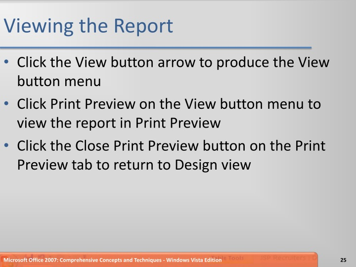 Viewing the Report