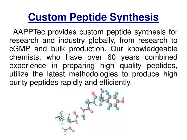 peptide sythesis General solid phase peptide synthesis scheme the general process for synthesizing peptides on a resin starts by attaching the first amino acid, the c-terminal residue, to the resin.