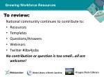 growing workforce resources