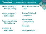 to review 21 st century skills for the workforce