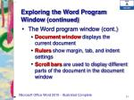 exploring the word program window continued4