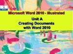 microsoft word 2010 illustrated
