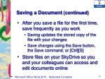 saving a document continued1