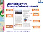 understanding word processing software continued