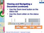viewing and navigating a document continued