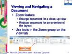 viewing and navigating a document
