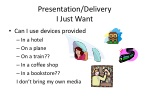 presentation delivery i just want
