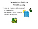 presentation delivery if i m shopping
