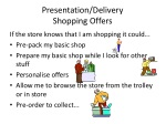 presentation delivery shopping offers