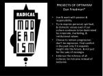 projects of optimism dan friedman