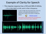 example of clarity for speech