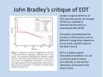 john bradley s critique of edt