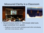 measured clarity in a classroom