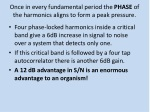 once in every fundamental period the phase of the harmonics aligns to form a peak pressure