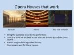 opera houses that work