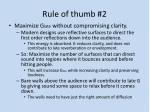 rule of thumb 2