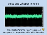 voice and whisper in noise