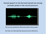 voiced speech in the formant bands has strong periodic peaks in the sound pressure