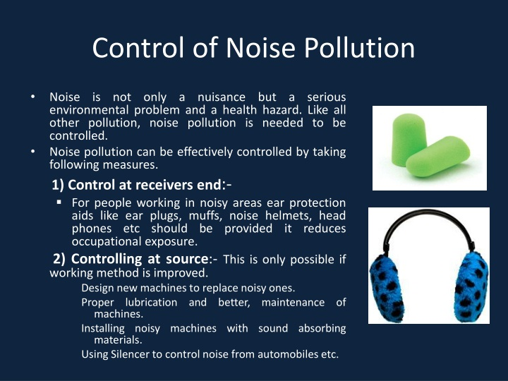 controlling noise pollution Related to noise pollution effects on ocean life in an essay detailing causes controlling idea attempts to establish a controlling idea, but lacks a clear.