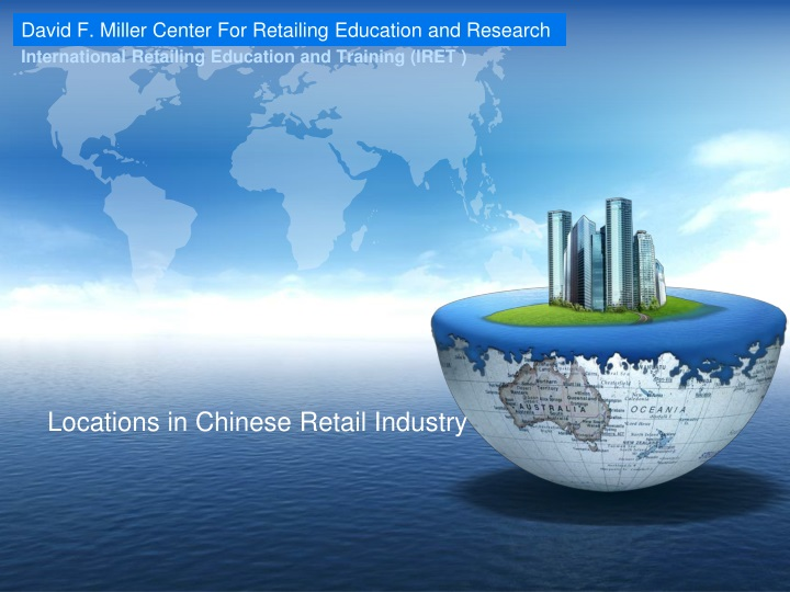 locations in chinese retail industry n.