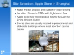 site selection apple store in shanghai
