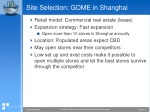 site selection gome in shanghai