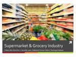 supermarket grocery industry