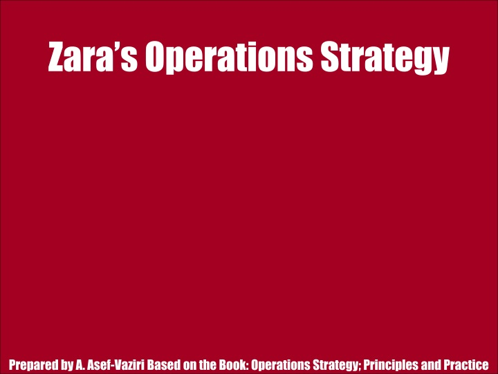 Ppt zaras operations strategy powerpoint presentation id1502339 zaras operations strategy toneelgroepblik