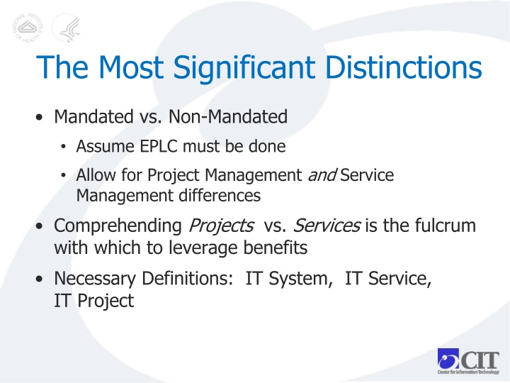 The Most Significant Distinctions