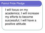 patriot pride pledge