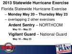2013 statewide hurricane exercise
