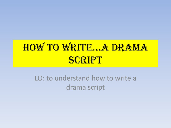 english drama script These 21 drama strategies (aka drama techniques or drama conventions) can be used to explore virtually any theme.