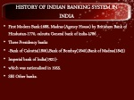 history of indian banking system in india